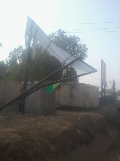 Kwankwaso billboard brought down