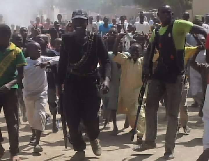 Image of the victirous Civilian-JTF with the young commander who defeated Boko Haram and protected Maiduguri this January