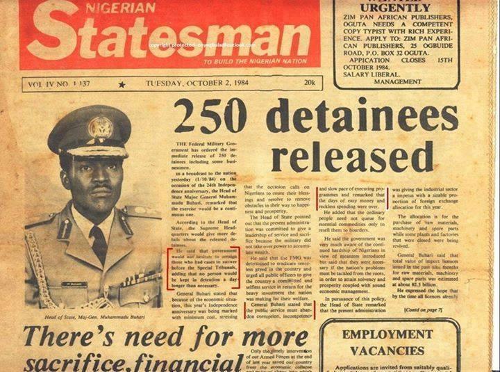 buhari detainees released