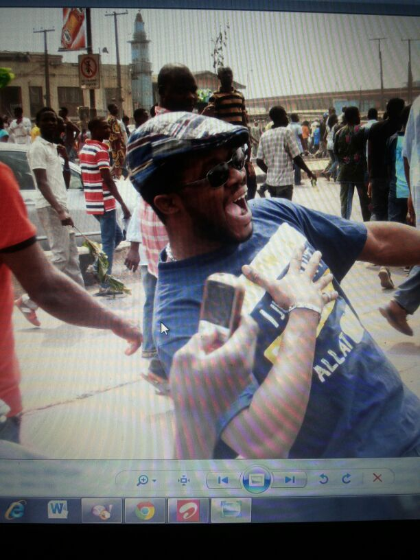 Dr Brimah at Occupy Nigeria protests 2012