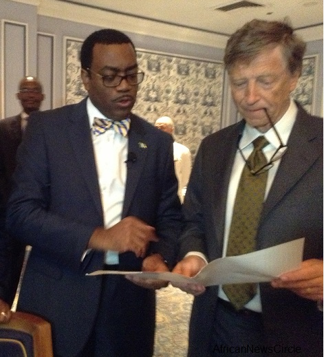 Minister of Agriculture Akinwumi Adesina with Bill Gates