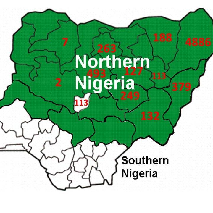 Boko Haram pogromhas been limited to mainly Muslim north