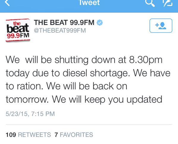 shut down radio