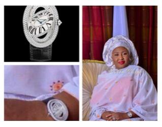 Aisha sports thousands of dollars wrist watch