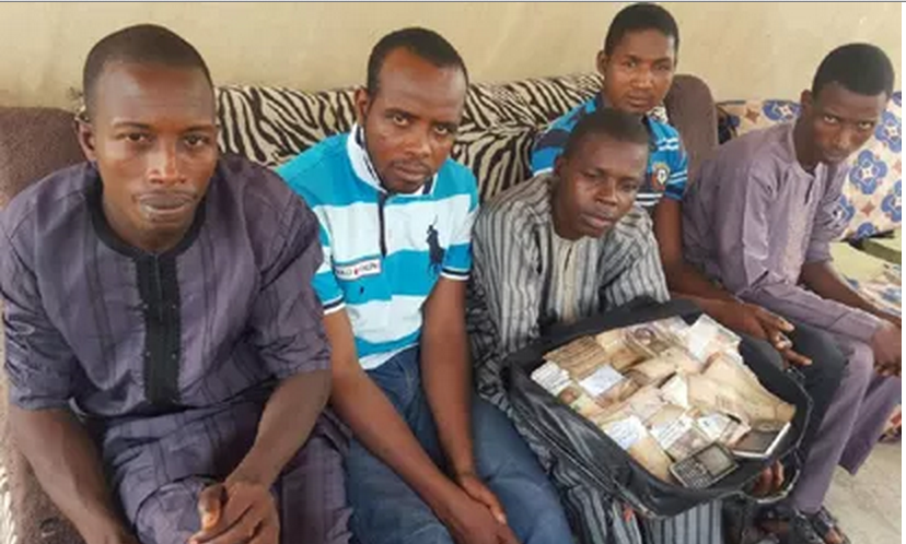 Kidnappers with N83,000 ransom money