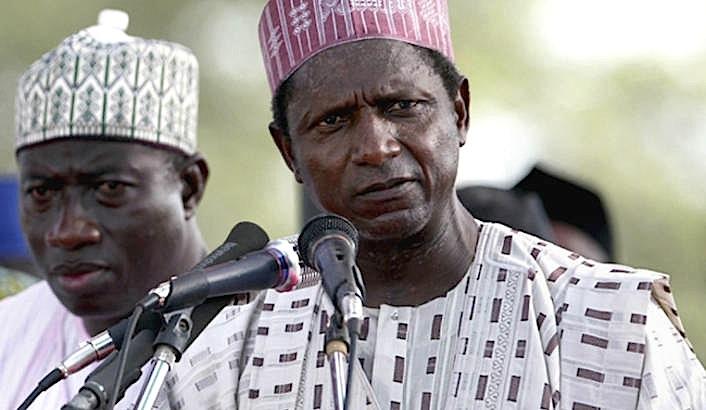 Late President Umaru Yar'Adua and Goodluck Jonathan