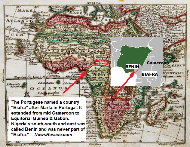 Old Maps Show Biafra Was Actually In Cameroon And Never Part