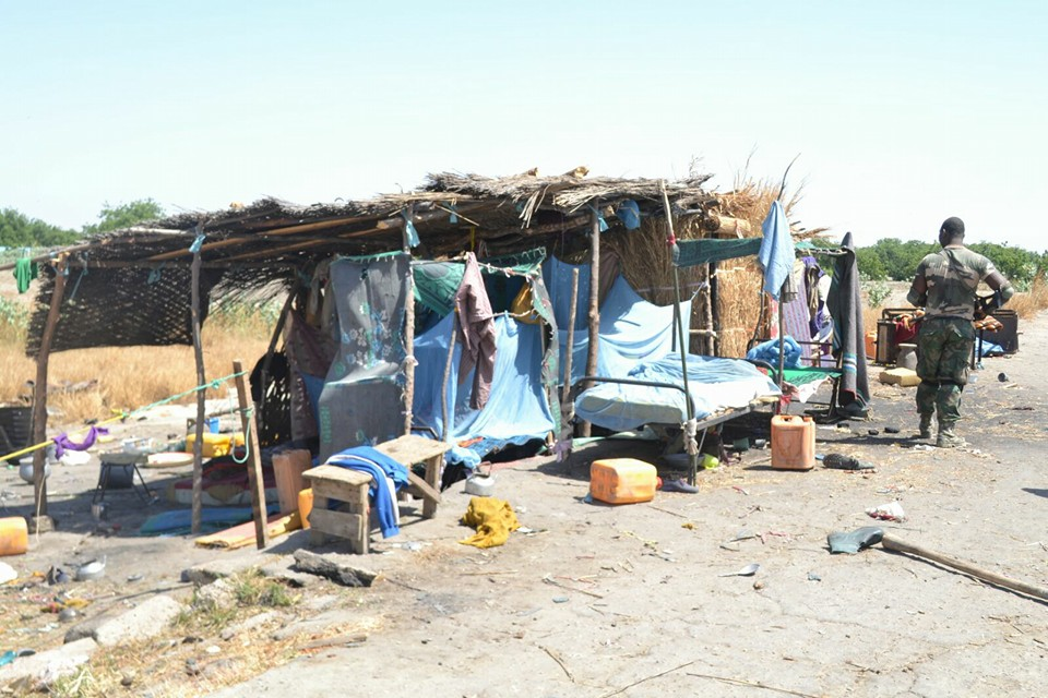 Typical Boko Haram shelter at the camps.