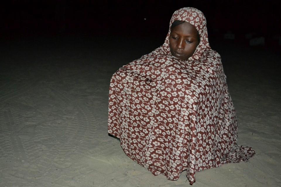 The suspected female Boko Haram terrorist.