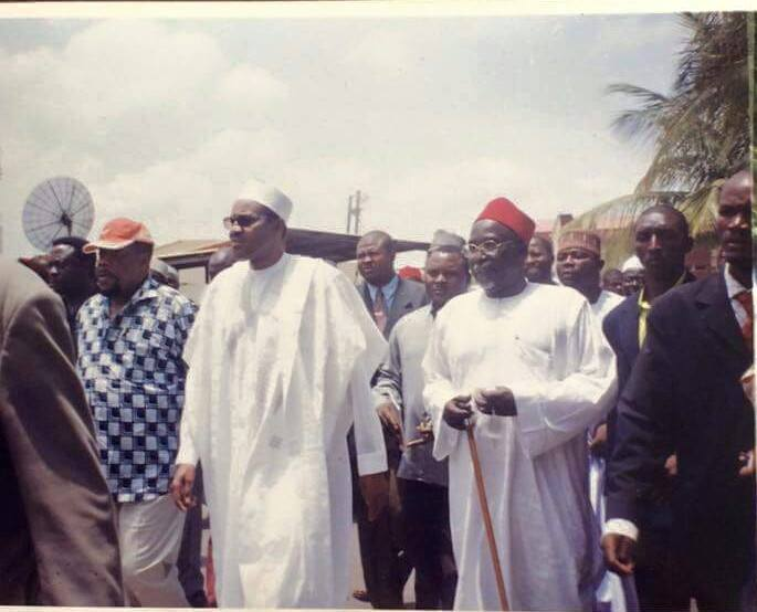 Buhari with his supporters including General Ojukwu take to the streets in protest against then President Obasanjo