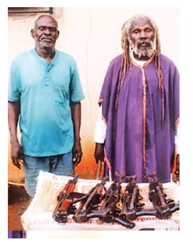 Radio Biafra gun suppliers arrested with weapons they were supplying Nnamdi Kanu