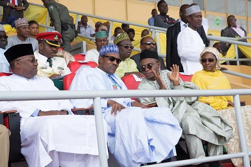 Buhari and El-Rufai at Kaduna Music And Disco Festival