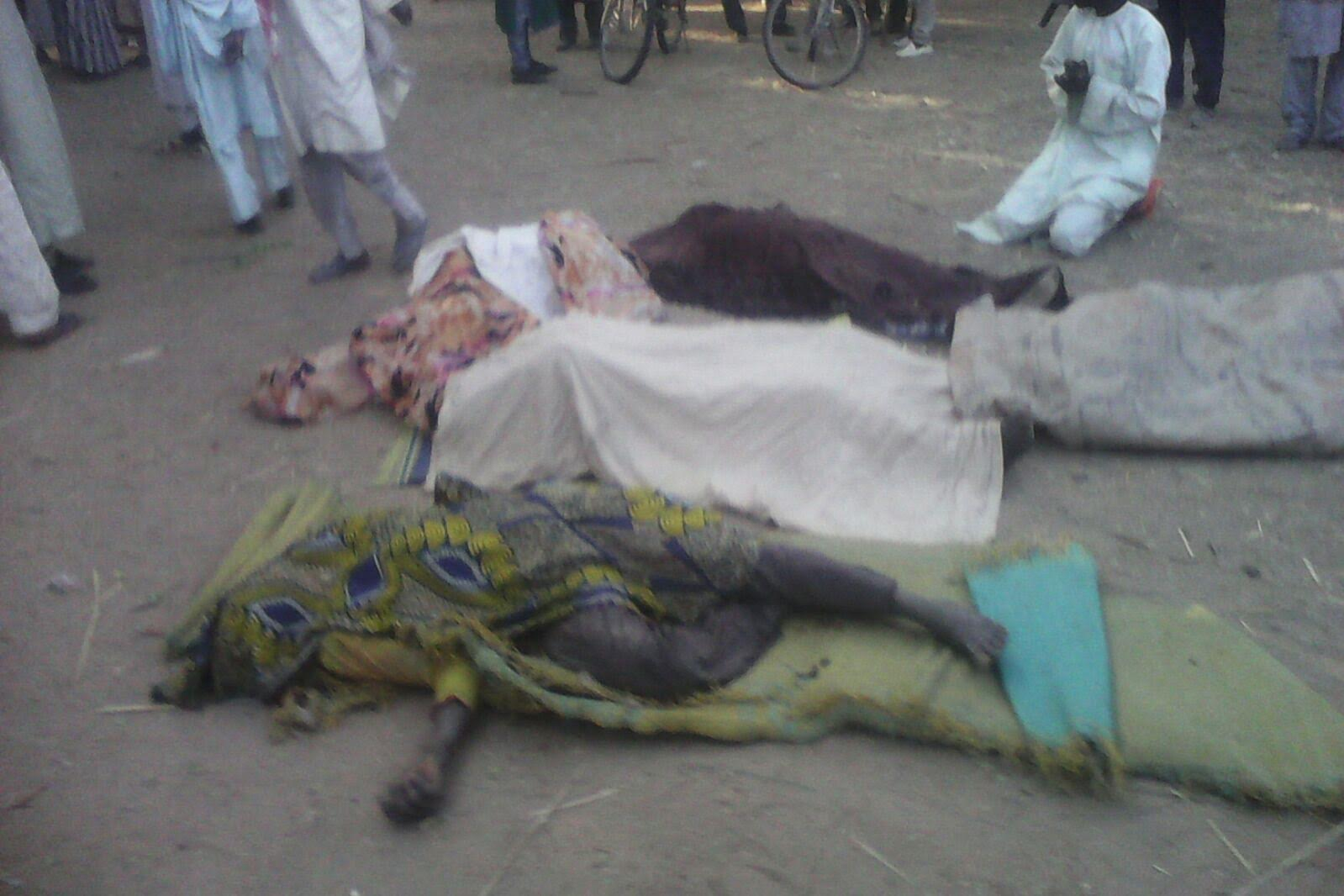 Victims killed by Boko Haram in Maiduguri in recent attack