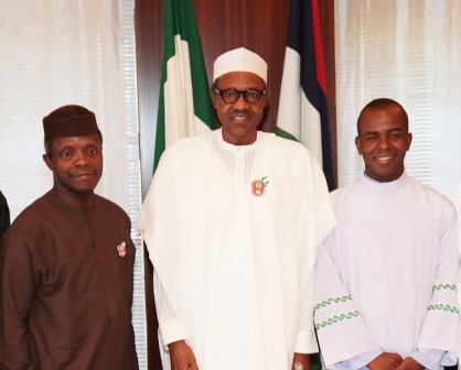 Father Mbaka with President and Vice