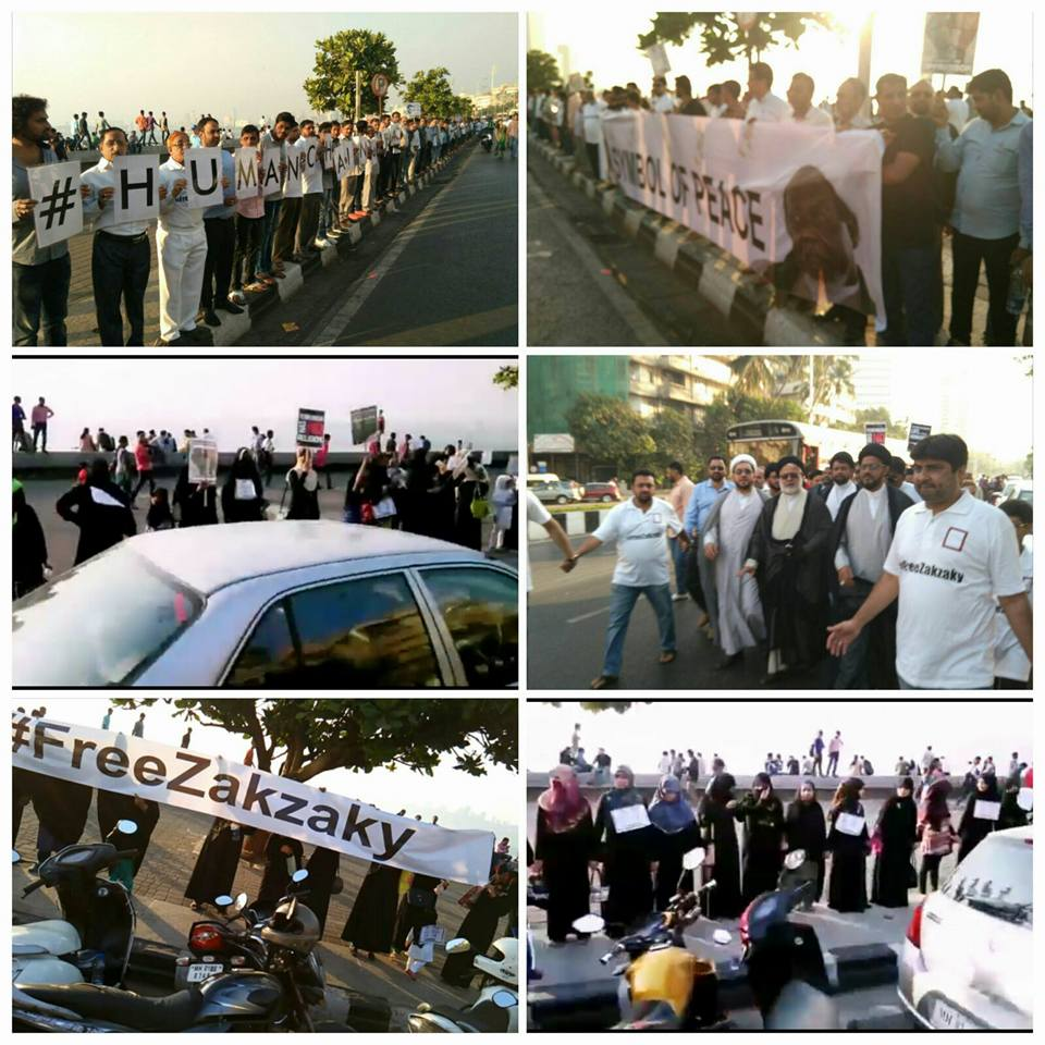 4000 men kilometers-long human chain in Mumbai