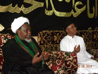 El-Rufai during condolence visit to El-Zakzaky July of 2014