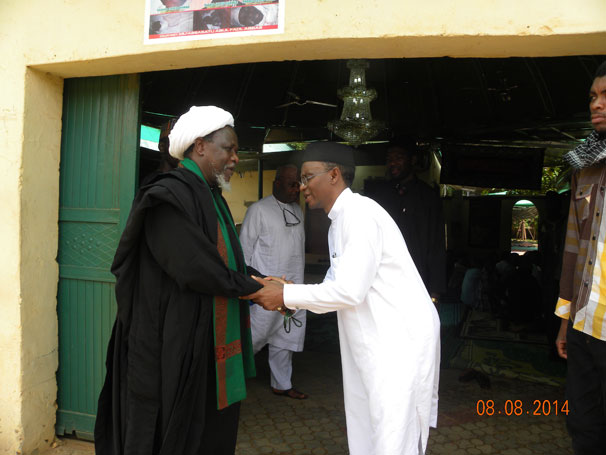 El-Rufai during condolence visit to El-Zakzaky in July of 2014