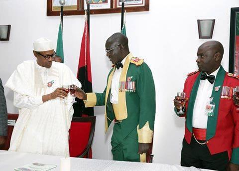 Buhari celebrates with Buratai after Zaria massacre, Maiduguri deadly Boko Haram attach that the government denied happened