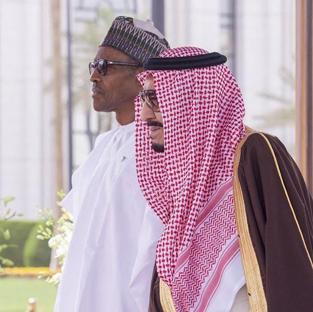 Saudi king's slouch