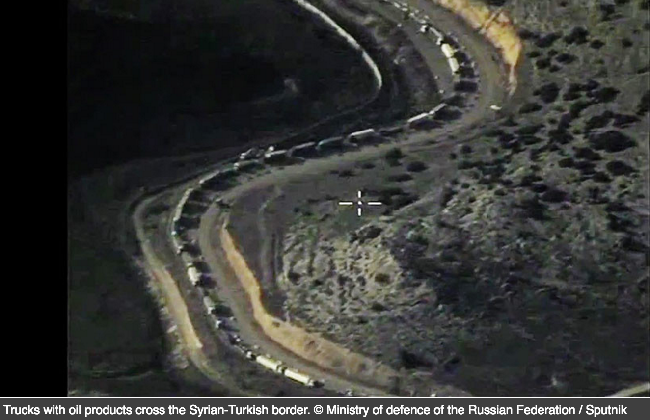 ISIS tankers taking oil to Turkey