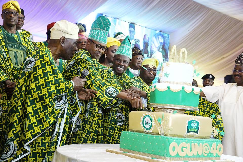 Buhari parties Ogun @ 40 while Dalori burns