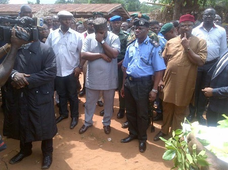 Governor Ugwuanyi crying