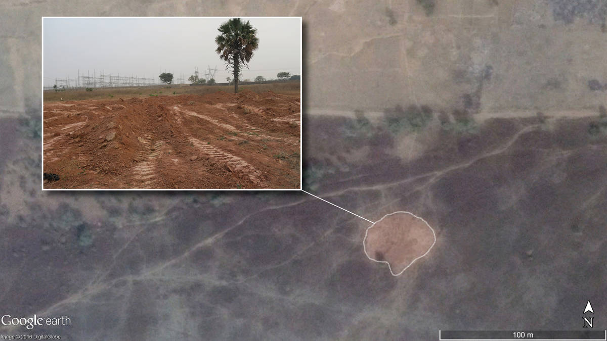 Amnesty international Satellite image of Mando mass grave where hundreds of victims were secretly buried