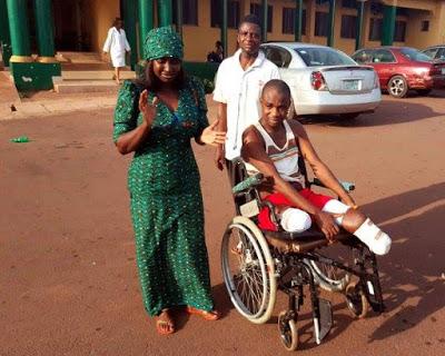 Victim of Enugu massacre who lost his legs