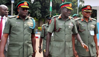 General Adeniyi Oyepdae, Left, to be expended as the sacrificial lamb