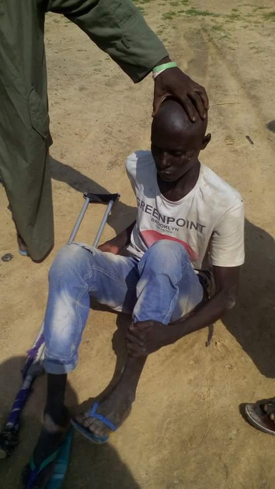 The bomber arrested by the Civilian JTF