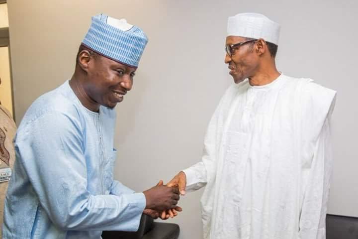 Abusidiqu meets Buhari during successful presidential campaign