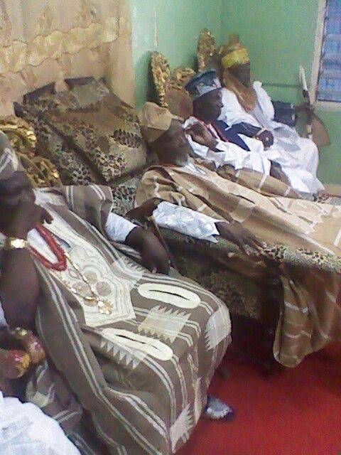 Chief Brimah VII in Palace at Accra (1)
