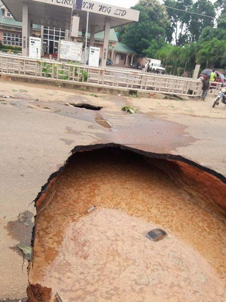 Road that collapsed during July kaduna earthquake (Naijaonpoint)
