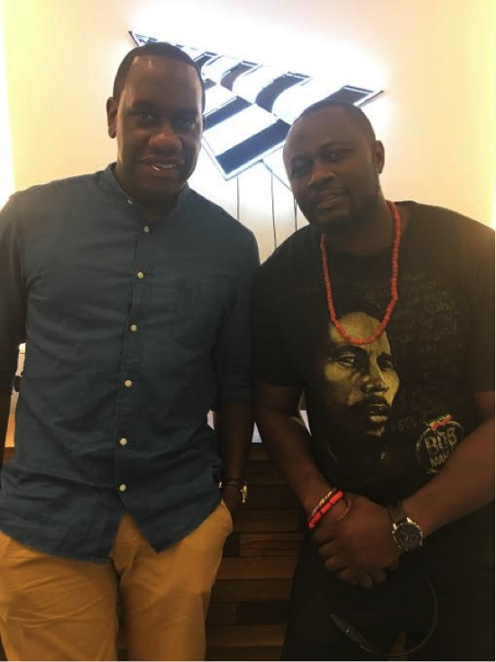 From the left: Brian Biggs of Roc Nation and Don Cos Canino (Cosmas Collins)