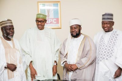 Buhari with radical Izala clerick Bala Lau