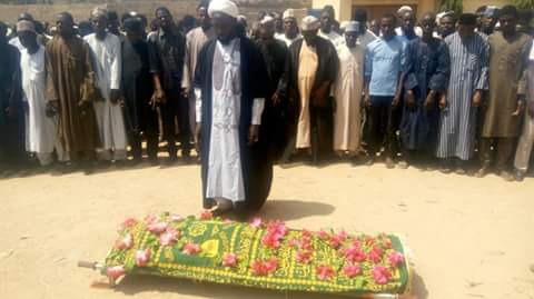 Orphaned baby's father's funeral