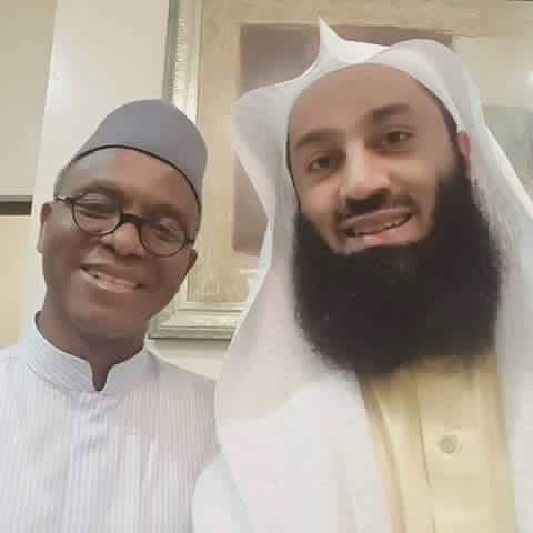 Implicated governor El-Rufai meets Mufti Menk las week