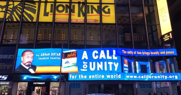 Adnan Oktar's message for 'A call for unity' at the Times Square in New York