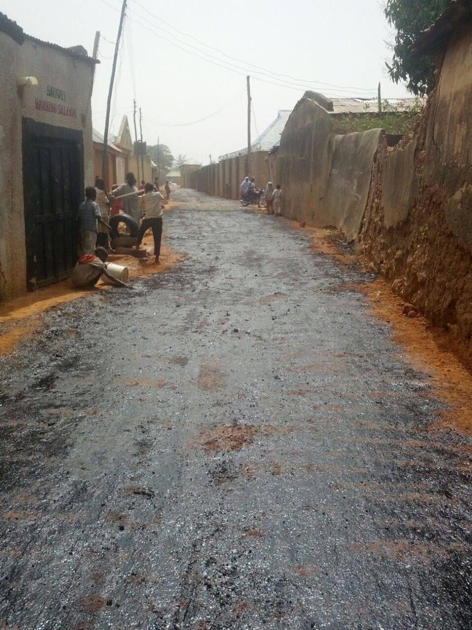 The road Hon Tajuddeen Abbas tarred