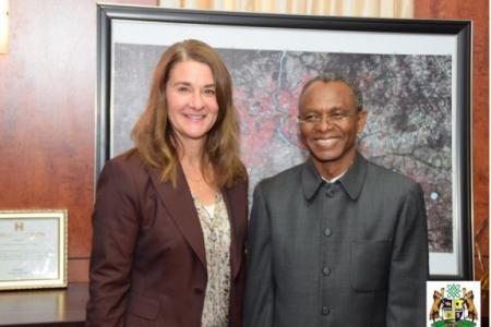 El-Rufai with Melinda Gates